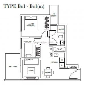 New Launch Condo - Highline Residences - Type Bc1