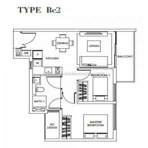New Launch Condo - Highline Residences - Type Bc2