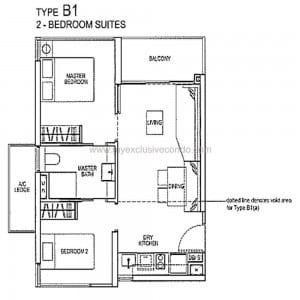 Condo New Launch Singapore - Rivertrees Residences - Type B1