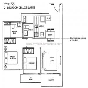 Condo New Launch Singapore - Rivertrees Residences - Type B3