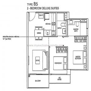 Condo New Launch Singapore - Rivertrees Residences - Type B5