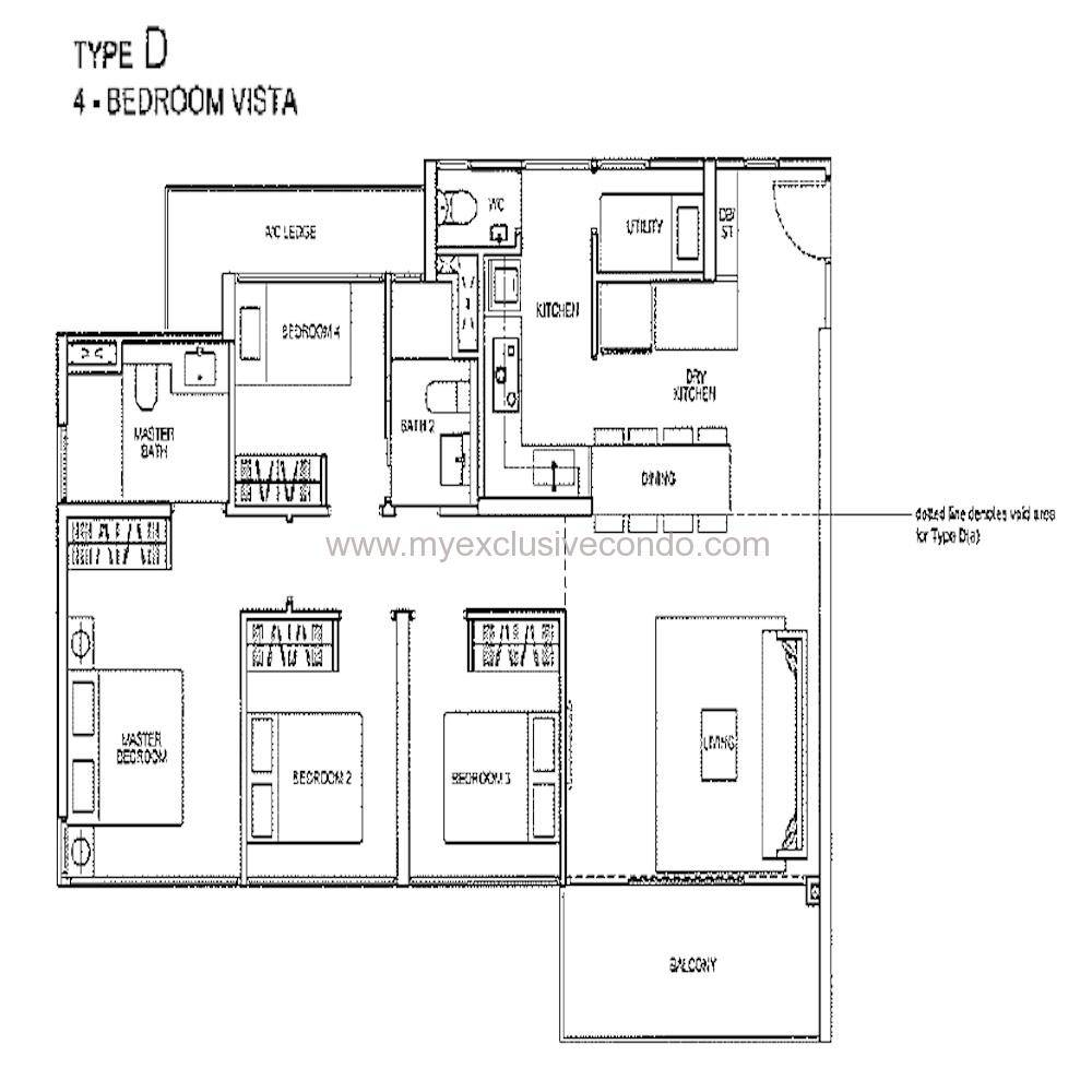 Condo New Launch Singapore Rivertrees Residences - Type D