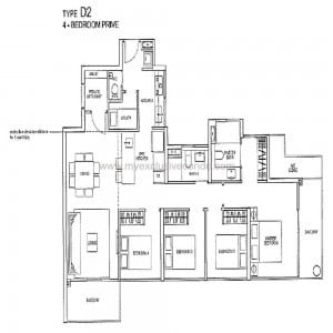 Condo New Launch Singapore - Rivertrees Residences - Type D2