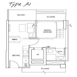 New Launch Condo Singapore - Spottiswoode Suites - Type A1