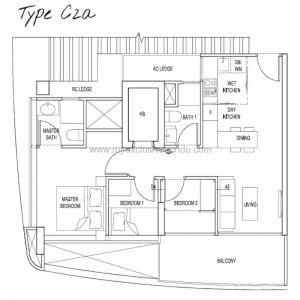 New Launch Condo Singapore - Spottiswoode Suites - Type C2a
