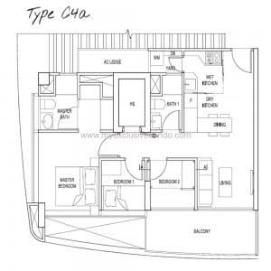 New Launch Condo Singapore - Spottiswoode Suites - Type C4a