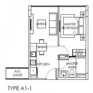 New Launch Property Singapore - The Citron Residences - Type A1-1