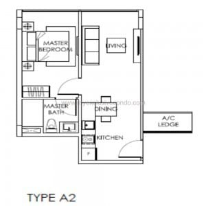 New Launch Property Singapore - The Citron Residences - Type A2
