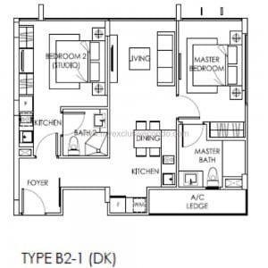 New Launch Property Singapore - The Citron Residences - Type B2-1 DK