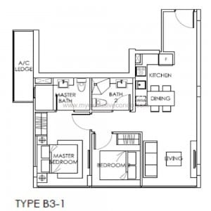 New Launch Property Singapore - The Citron Residences - Type B3-1