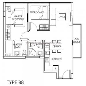 Condo Singapore - The Citron Residences - Type B8