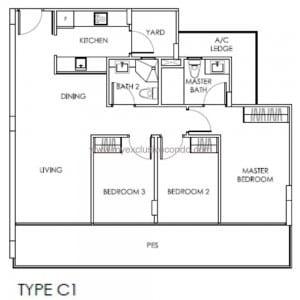 New Launch Property Singapore - The Citron Residences - Type C1