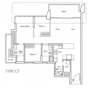 New Launch Condo - LakeVille - Type C7
