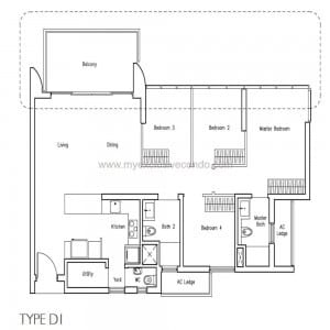 New Launch Condo - LakeVille - Type D1