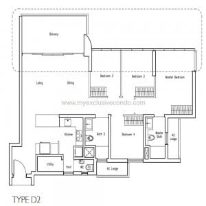 New Launch Condo - LakeVille - Type D2