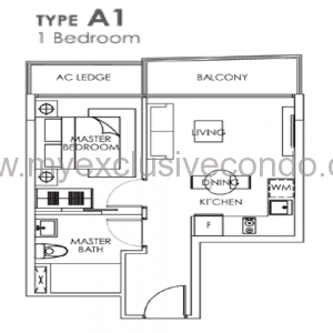 New Launch Condo Singapore - Bently Residences - Type A1