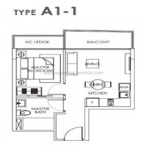 New Launch Condo Singapore - Bently Residences - Type A1-1