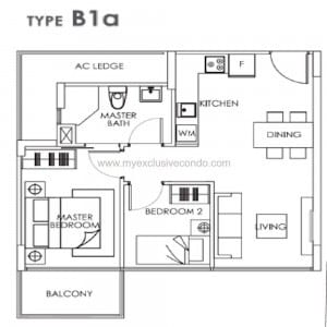 New Launch Property Singapore - Bently Residences - Type B1a