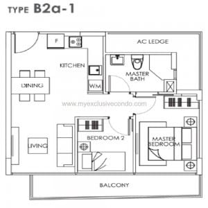 New Launch Condo Singapore - Bently Residences - Type B2a-1