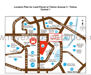 New Launch Condo - North Park Residences - Location map