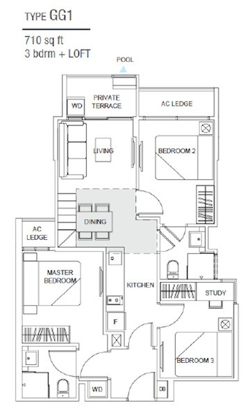 New Launch Condo Singapore - Hills TwoOne - Type GG1