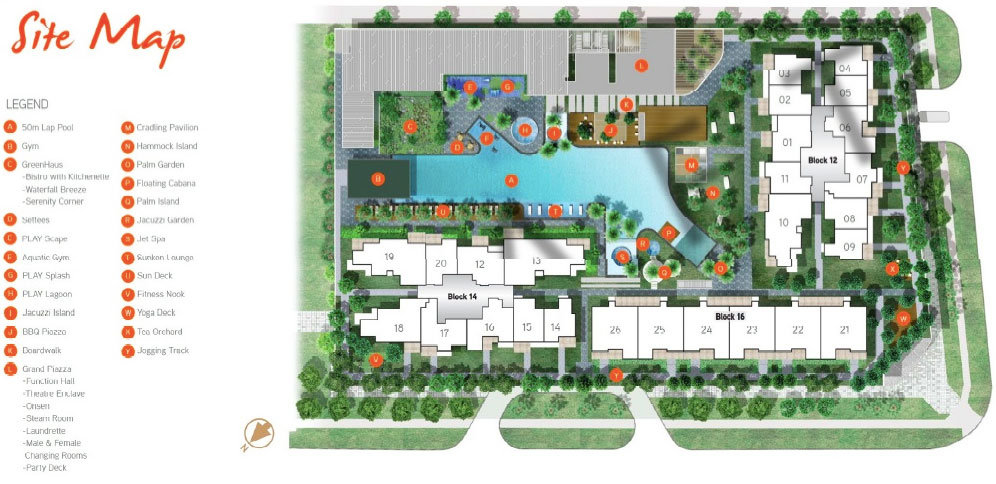 New launch property - Nine Residences - Site Plan