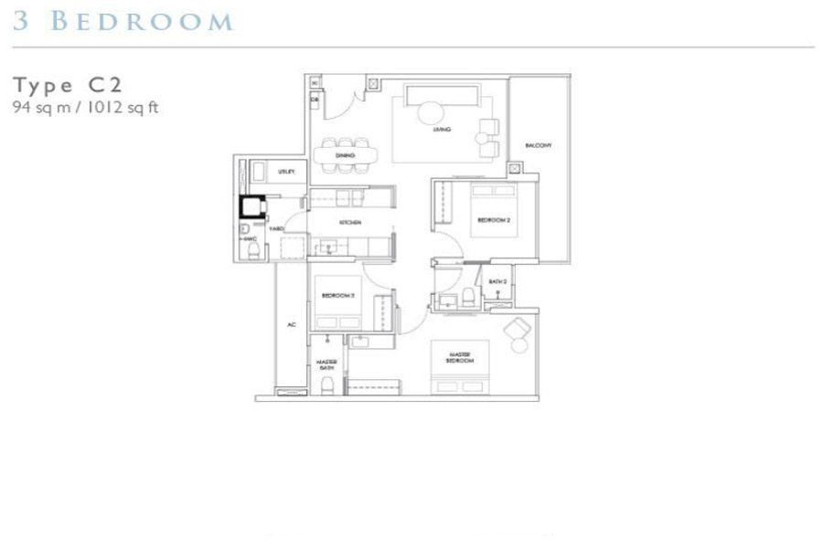 Robin Residences - 3 Bedroom (C2)