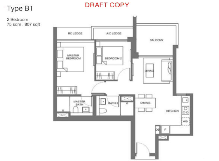 Floorplan - Principal Garden - 2 Bedroom