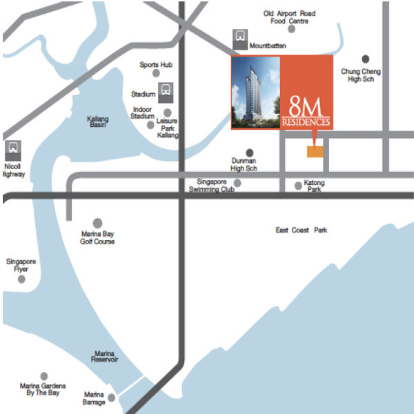 8M Residences - Location Map