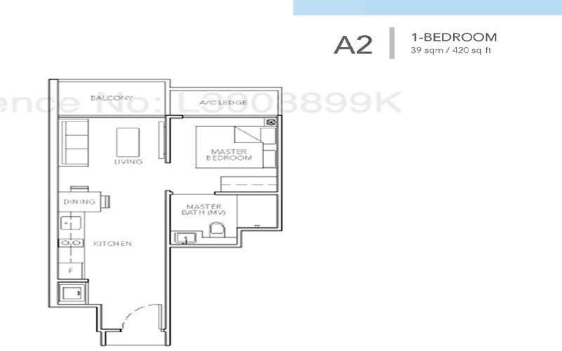 Sturdee Residences Floor plans - 1-Bedroom