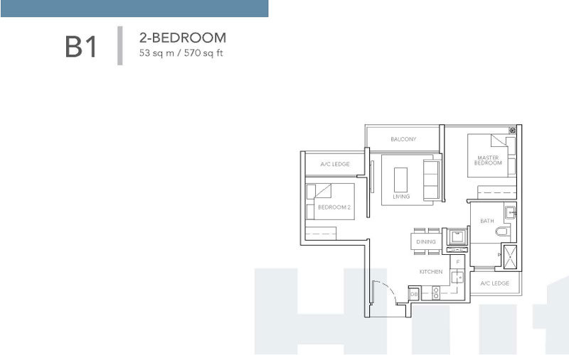 Sturdee Residences Floor plans - 2-Bedroom