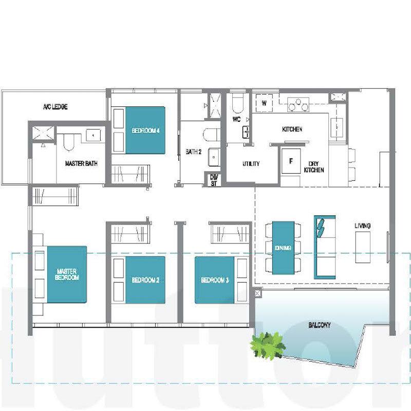Floorplans - Lake Grande - 4 Bedrooms