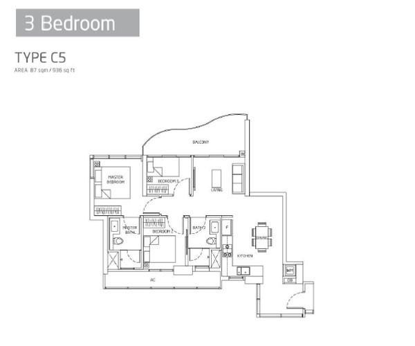 Queens Peak - Floorplans - 3 Bedroom