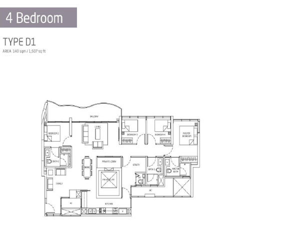 Queens Peak - Floorplans - 4 Bedroom