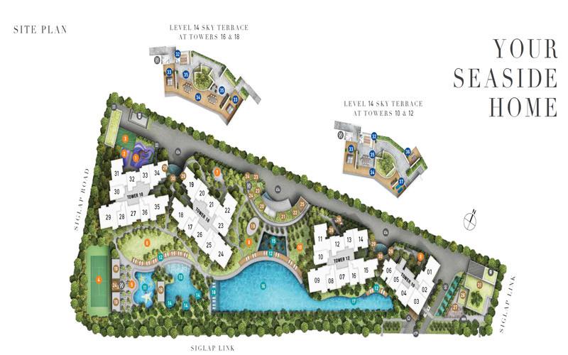 Siteplan of Seaside Residences