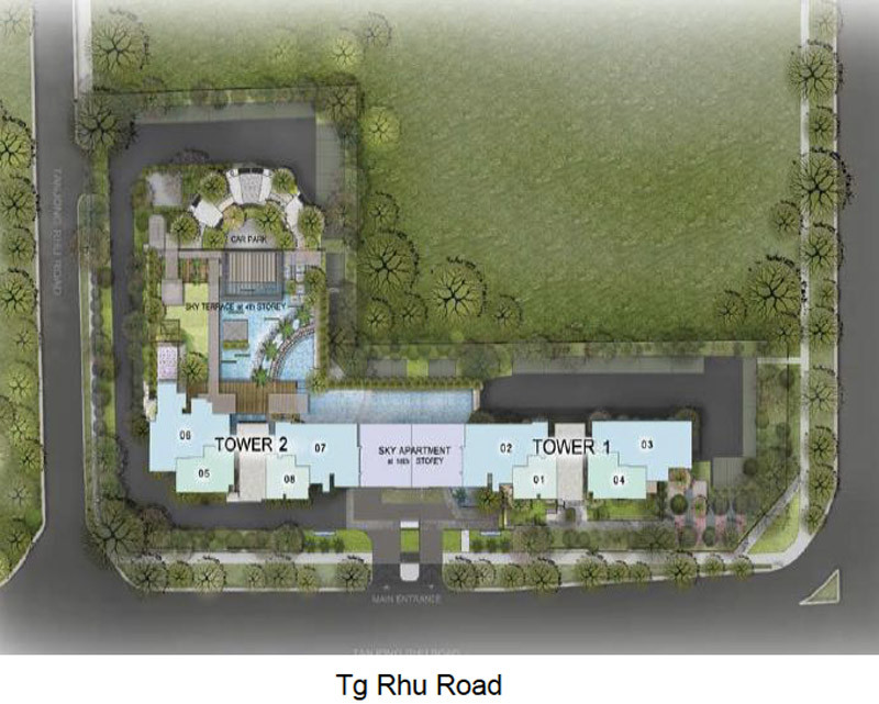 The Line @ Tanjong Rhu - Site Plan
