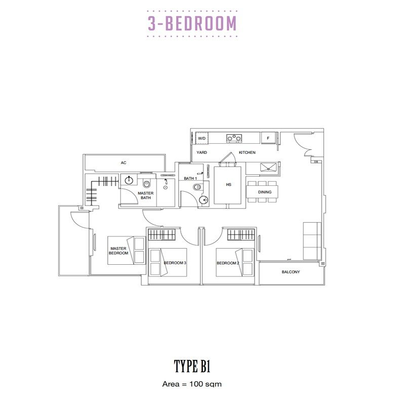 Carpmael Thirty-Eight - Floorplans - 3 Bedroom