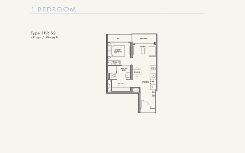 Parc Botannia -Floorplans - 1 Bedroom