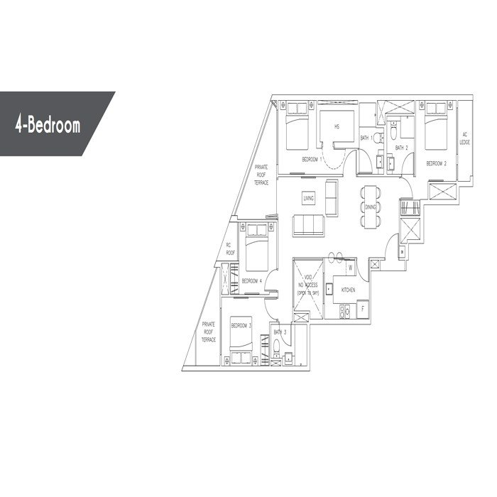 Rezi35 - Floorplans - 4 Bedroom