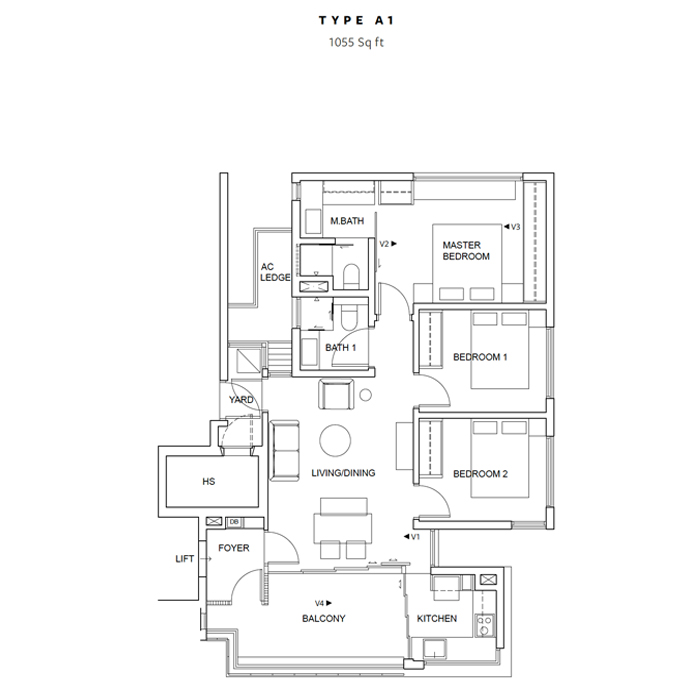FiveNine - Floorplans - 3Bedroom-