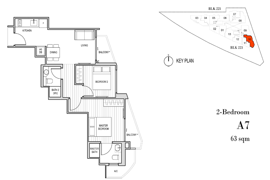 Harbour View Gardens - Floorplans - 2 Bedroom