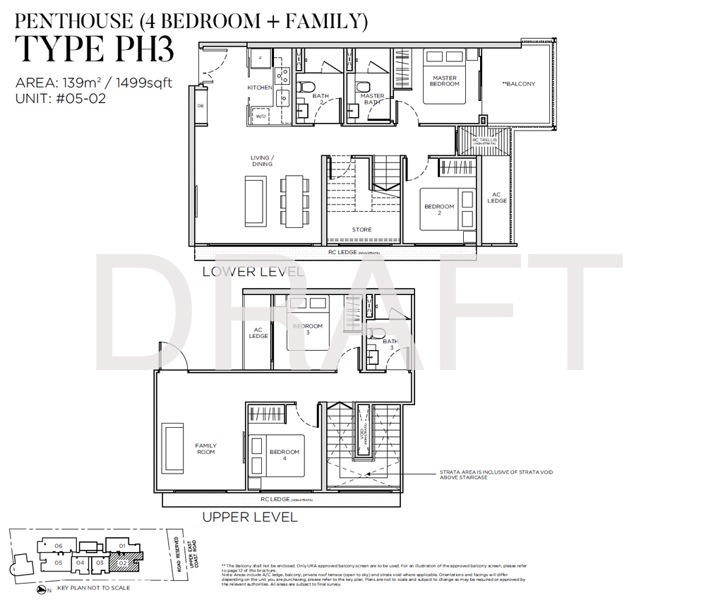 Sea Pavilion Residences - Floorplan - 4 Bedroom
