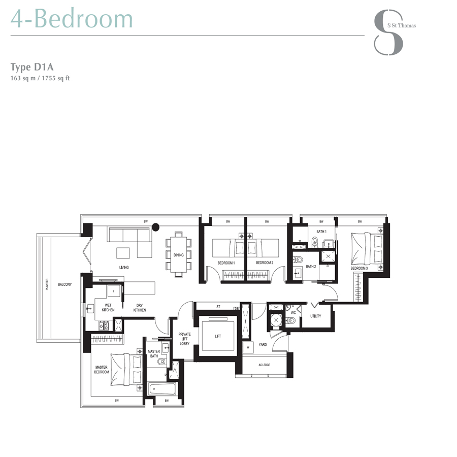 8 St Thomas - Floorplan - 4 Bedroom