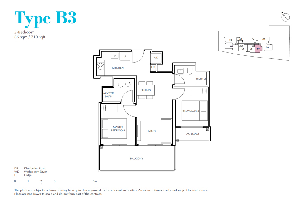 Jui Residences - Floorplan - 2 Bedroom