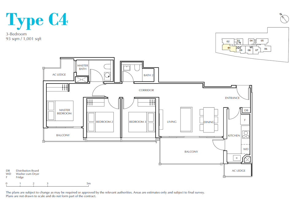 Jui Residences - Floorplan - 3Bedroom