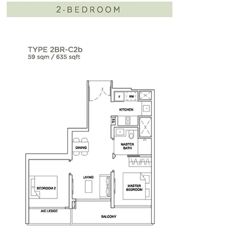 Stirling Residences - Floorplan - 2 Bedroom