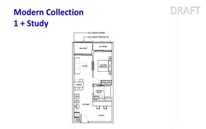 1953 Tessensohn - Floorplans - 1 Bedroom With Study