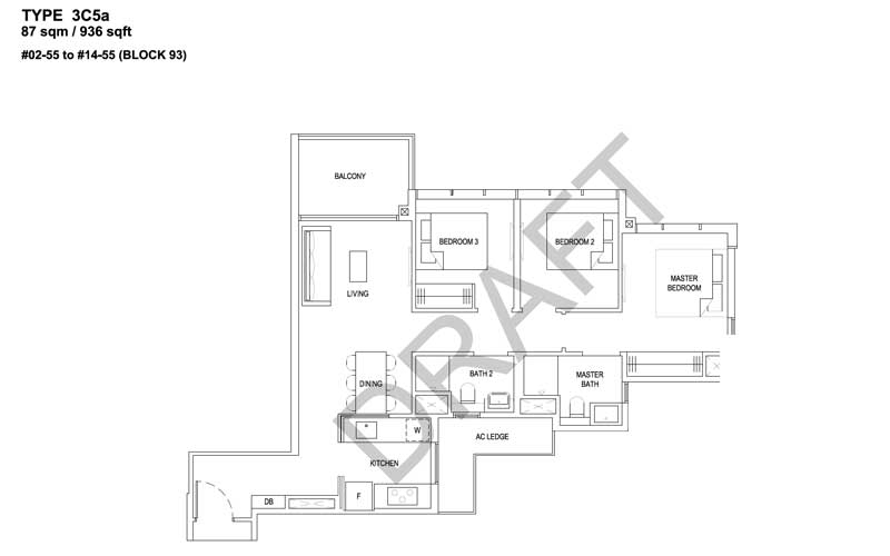 The Florence Residences - Floorplan - 3 bedroom