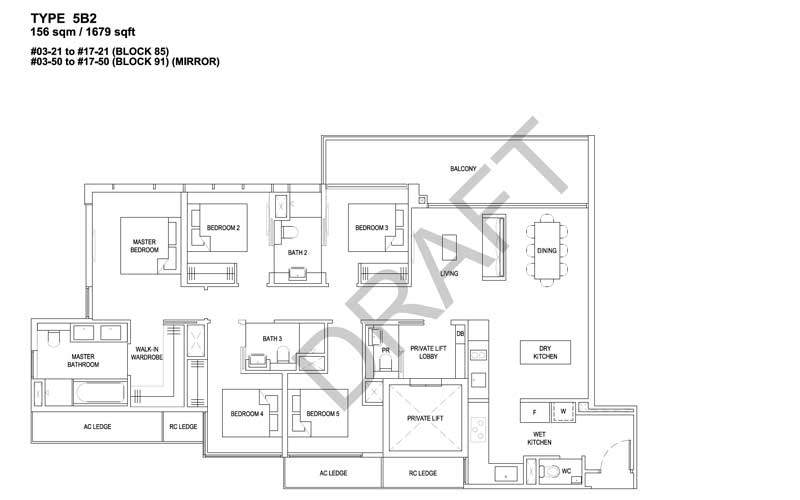 The Florence Residences - Floorplan - 5 bedroom