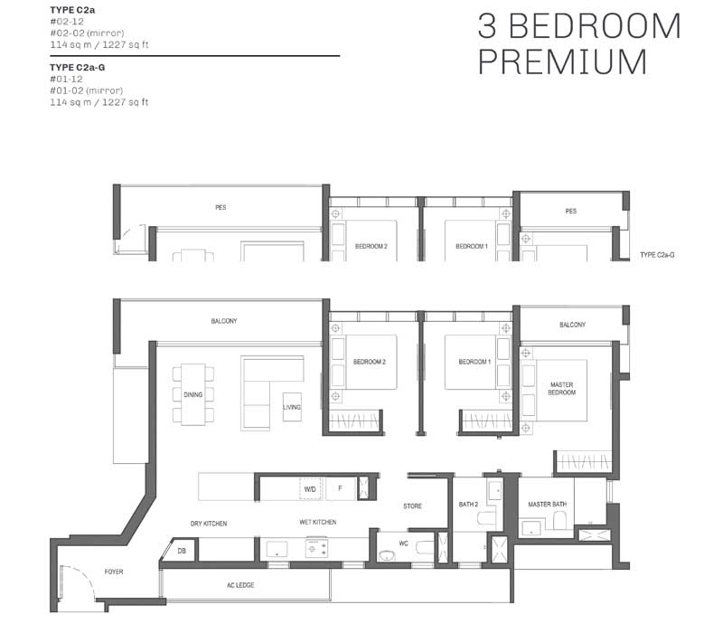 The Essence - Floorplan - 3 Bedroom Premium